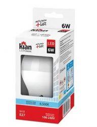 Lâmpada de LED Kian 6W 6.500K Base E27 Bivolt Cor: Branca