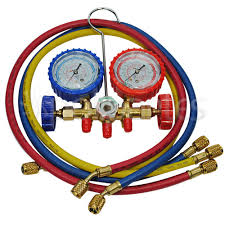 Manifold para gás R22/R134/R404 c/ mangueira de 0,90 cm SURYHA